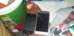 Vendo esses dois celulares pra retirada de peças
