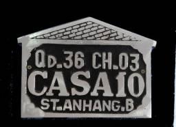 placa de endereço alumínio