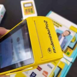 Promoção Máquina Cartão Moderninha Pro 2 Grátis Uma Minizinha Bluetooth
