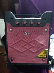 Caixa de som Lenox entrada Usb com Rádio