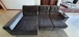 Sofá reclinável com cheise