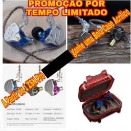 Fone Kz Zsn Pro Profissional + Case Brinde Promoção por tempo limitado