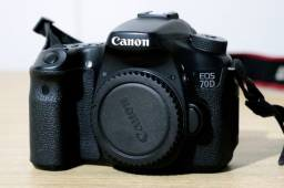 Câmera Canon EOS 70D - 20MP - Corpo - Full HD - Touch-Screen