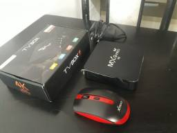 Vendo TV BOX MXQ pro 4K Novo completo