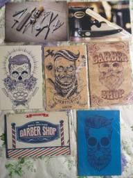 Placas Decorativas Barbearia Barber Shop Salão de Beleza Masculino Quadros Decorativos