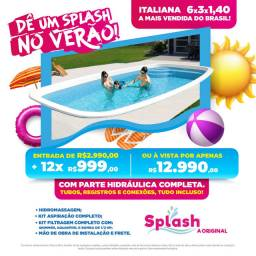 Piscina Nova com brinde na Splash Biguaçu