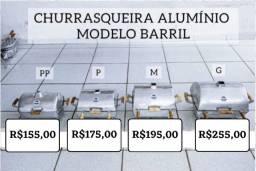 CHURRASQUEIRA DE ALUMÍNIO BARRIL