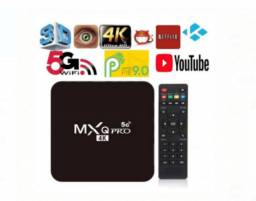 Tv box mxq pro 4k 5g - 4gb/64gb novos