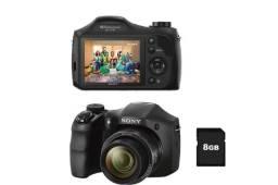 "Câmera Digital Sony DSC-H100/B Preta c/ 16.1MP, LCD 3.0"""