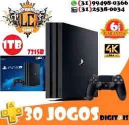 PS4 PRO 4k + 30 JOGOs + 06 MESEs Garantia