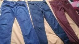 Calças jeans vestem 36 10 reais cada