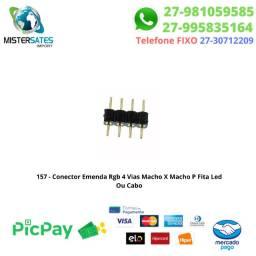 157 - Conector Emenda Rgb 4 Vias Macho X Macho P Fita Led Ou Cabo