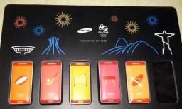 Pins das Olimpíadas Rio 2016 da Samsung