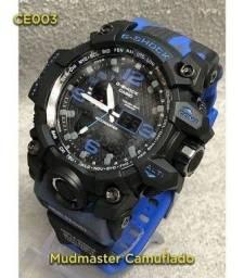 Relógio g-shock ga110 preto/dourado automático digital ponteiro a prova d'agua