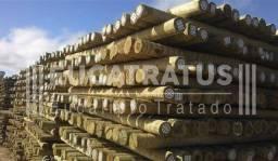 Mourão de Eucalipto Tratado em Autoclave