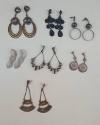 Título do anúncio: Lote de brincos bijoux