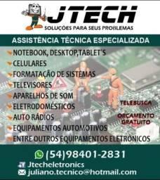 Conserto de eletrônicos orçamento gratuito serviço de tele busca e tele entrega