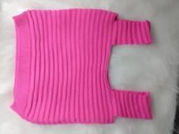 Blusa crochê cropped