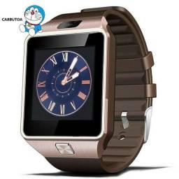 Relógio Smartwatch Dz09 Dourado