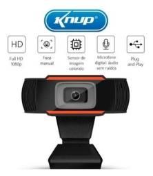 Webcam 1080p com microfone embutido