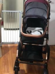 Carrinho de bebe importado, acompanha bebe conforto que encaixa no carrinho