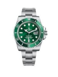 Relógio Rolex Prata e Verde - Novo