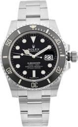 Relógio Rolex Submariner Prata e Preto - Novo