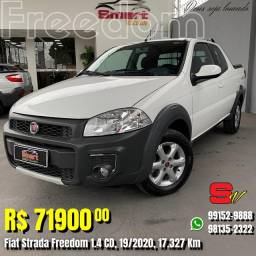 Smart Veículos - Fiat Strada Freedom 1.4 CD, 19/2020, 17.327 Km. R$ 71.900,00