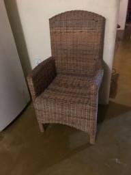Cadeiras modernas de cipó