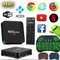 Smartv Tv Box 64gb E 4gb Ram Android 10.1 -4k Hevc + Controle LED