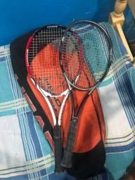 raquetes de tênis profissionais.