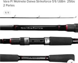 Vara daiwa strikeforce molinete