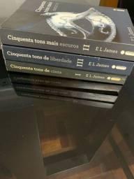 """Trilogia """"Cinquenta tons de cinza"""" de E.L. James"""