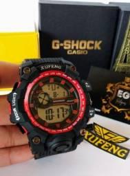 Relógio Xufeng preto/vermelho Original