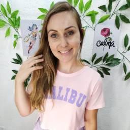 Cropped tshirt moda feminina