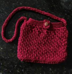 Bolsa de croche em fio de malha  002