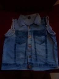Colete jeans infantil 10,00