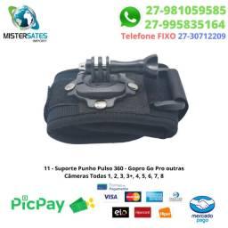 11 - Promoção - Suporte Punho Pulso 360-Gopro Câmeras Todas 1, 2, 3, 3+, 4, 5, 6, 7, 8