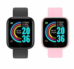 Novo Smartwatch D20 pro relógio inteligente > Cor Disponivel: Preto / Rosa