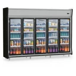 Expositor GEVP-5P Gelopar (NOVO) Bebidas Laticínios Mercado Mercearia Conveniência