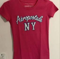 camiseta aeropostale vermelha