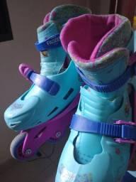 Patins + capacete Frozen
