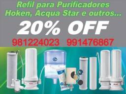 Título do anúncio: REFIL DE PURIFICADORES DE ÁGUA