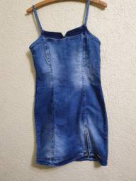 Vestido jeans Tamanho 40. Conservado