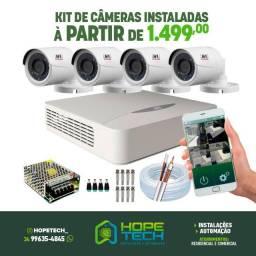 Kit câmeras instalado