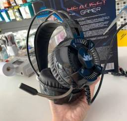 Headset Knup 7.1 Virtual Led C/ Microfone P2 + Usb Kp-464