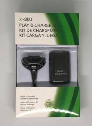 Kit Bateria Recarregável Xbox 360 12000mah + Carregador novo na Caixa