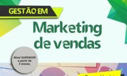 M.V. faça o Curso Superior de Marketing e vendas 3 meses leia tudo