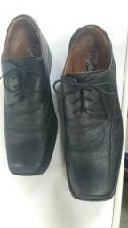 Sapato de couro preto SOLLU 41 puro conforto comprar usado  São Paulo