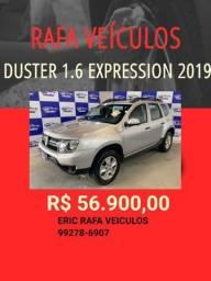 OFERTAS DE VERÃO RAFA VEÍCULOS!!!! DUSTER EXPRESSION 1.6 2019 R$ 56.900,00